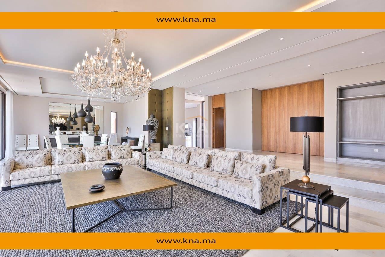 Vente Sublime Villa de très haut standing située en première ligne de Golf Marrakech