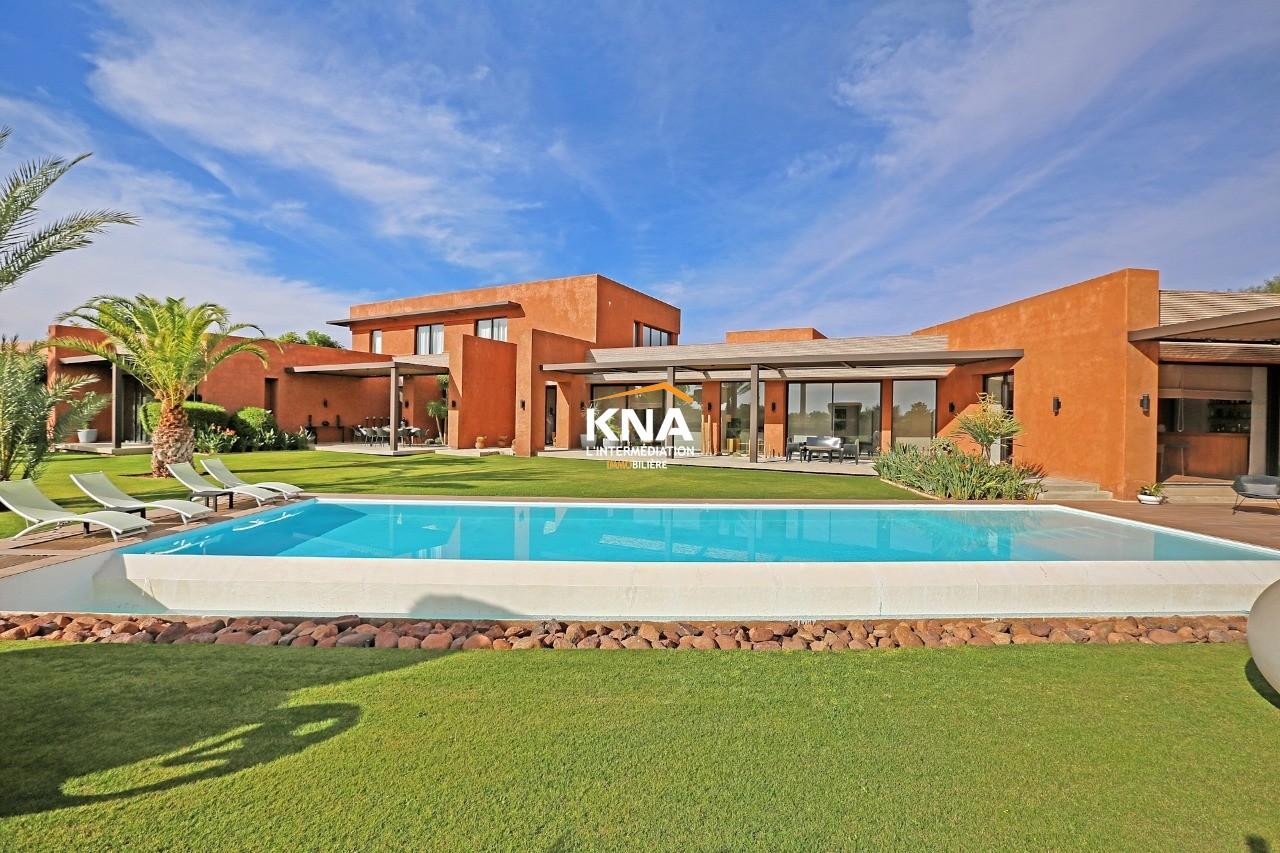 Vente Sublime Villa contemporaine très lumineuse en première ligne de golf Marrakech